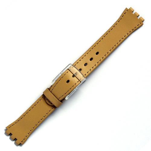 curea ceas tip swatch din piele naturala nr. 189 [17-sw12]