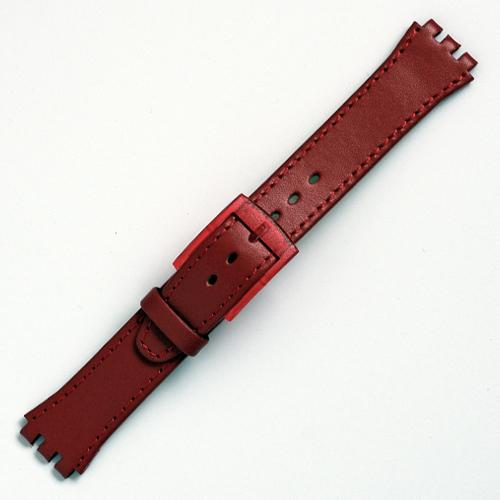 curea ceas tip swatch din piele naturala nr. 191 [17-sw12]