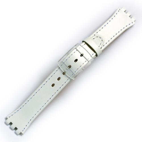 Curea ceas tip Swatch din piele naturala nr. 194 [17-SW12]