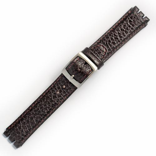 curea ceas tip swatch din piele naturala nr. 197 [17-sw15]