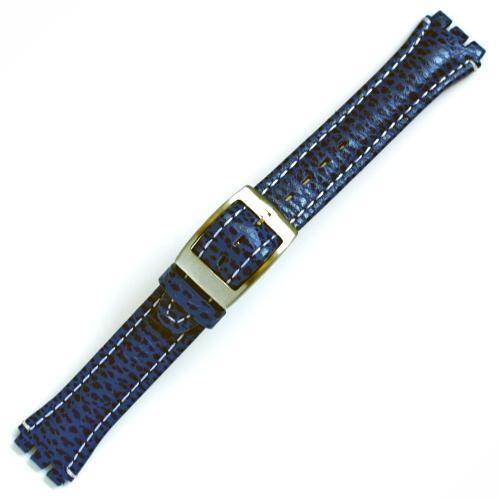 Curea ceas tip Swatch din piele naturala nr. 198 [17-SW18]
