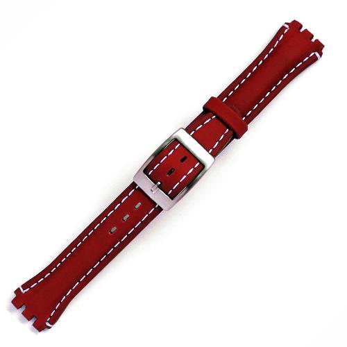 Curea ceas tip Swatch din piele naturala nr. 199 [17-SW18]
