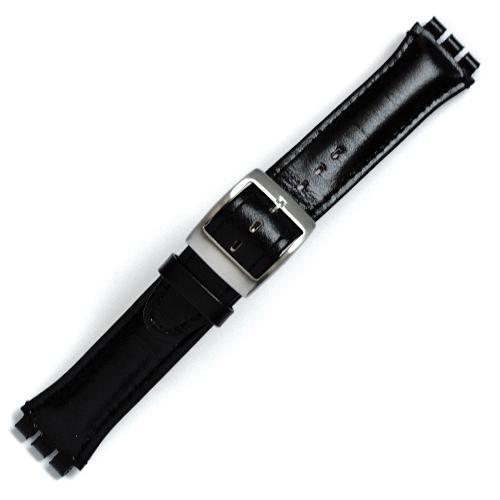 Curea ceas tip Swatch din piele naturala nr. 200 [19-SW18]