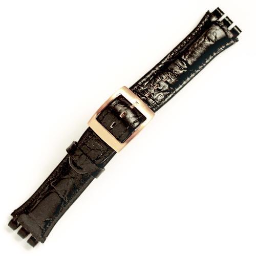 curea ceas tip swatch din piele naturala nr. 203 [19-sw21]