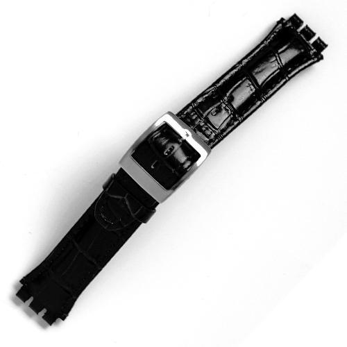 curea ceas tip swatch din piele naturala nr. 204 [19-sw21]
