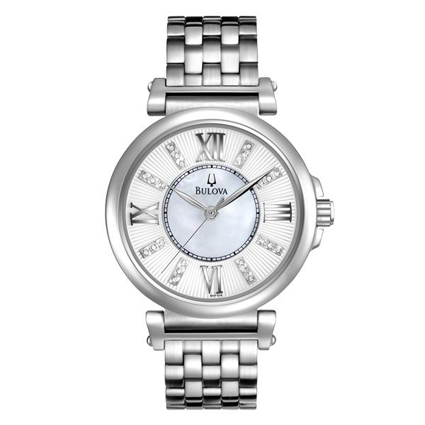 ceas bulova ladies' diamond 96p134