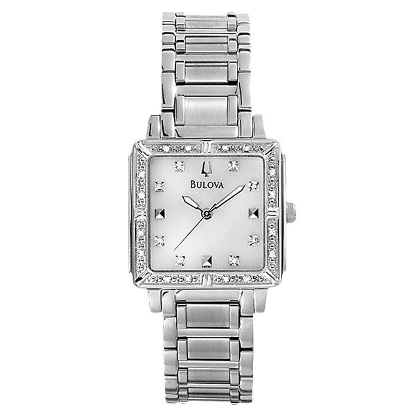 ceas bulova ladies' diamond 96r107