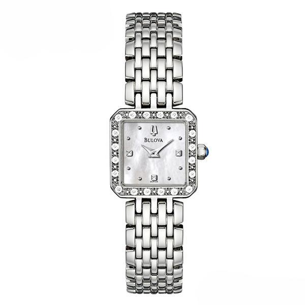 ceas bulova ladies' diamond 96r128