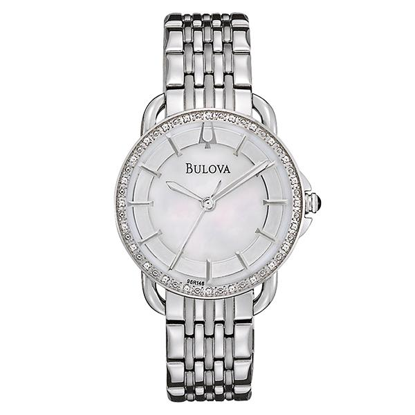 ceas bulova ladies' diamond 96r146