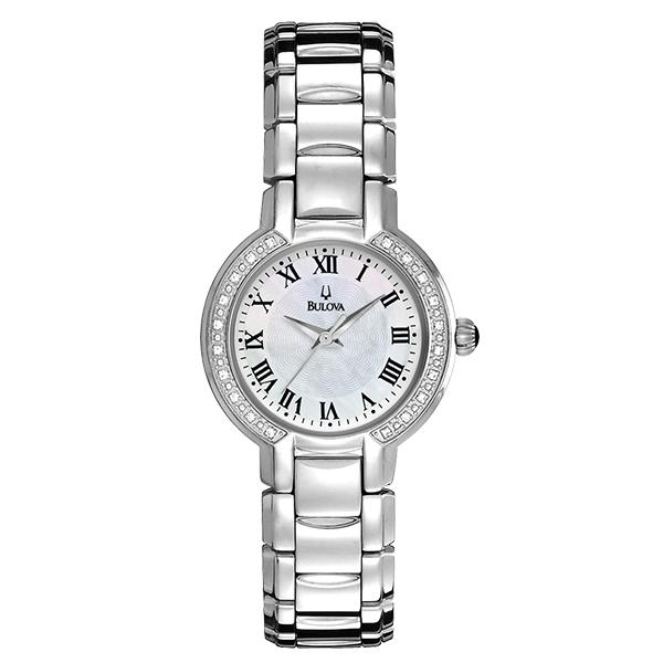 ceas bulova ladies' diamond 96r159