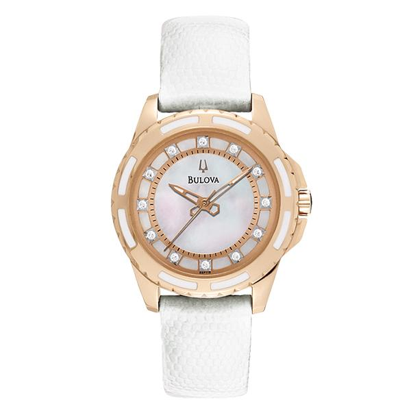ceas bulova ladies' diamond 98p119