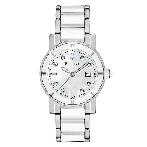 ceas bulova ladies' diamond 98p121