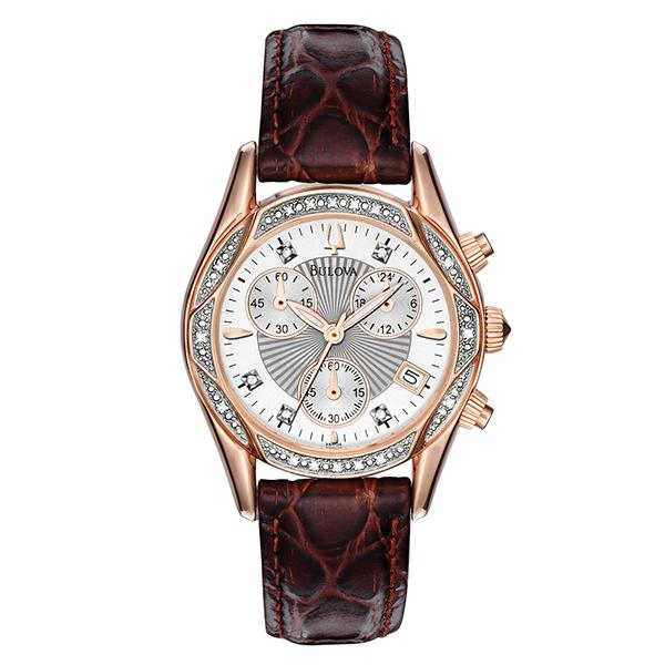 ceas bulova ladies' diamond 98r136