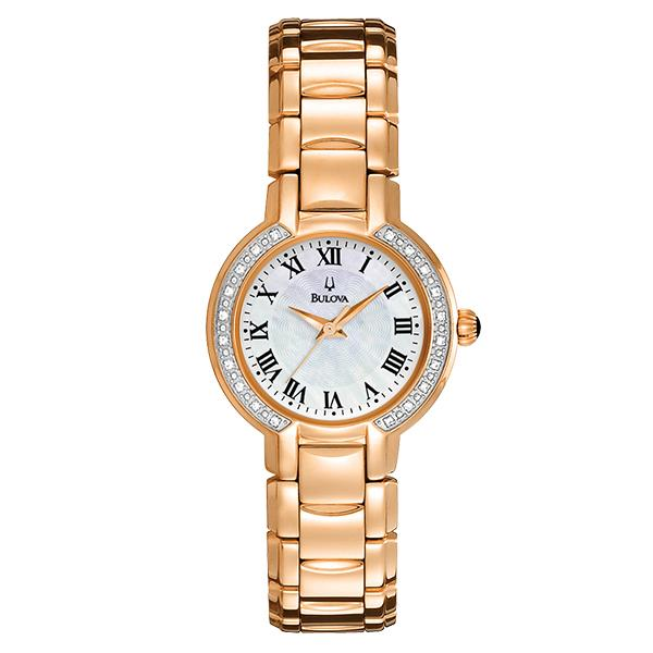 ceas bulova ladies' diamond 98r156