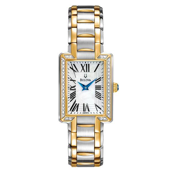 ceas bulova ladies' diamond 98r157