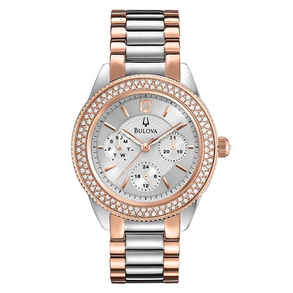 ceas bulova ladies' crystal 98n100