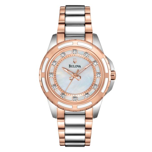 ceas bulova ladies' diamond 98p134