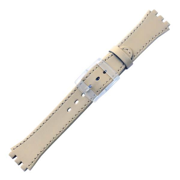 curea ceas tip swatch din piele naturala nr. 387 [17-sw12]